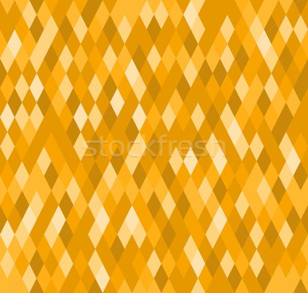 Diamant modèle jaune décoratif wallpaper Photo stock © nikdoorg