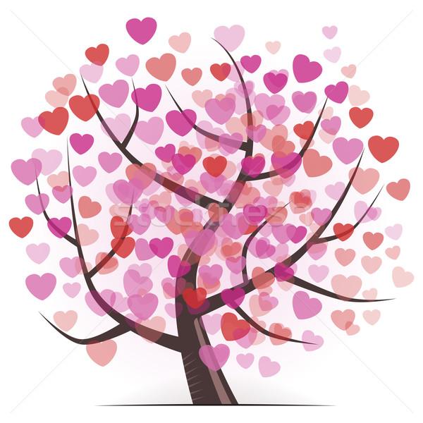 Tree with Hearts  Stock photo © nikdoorg