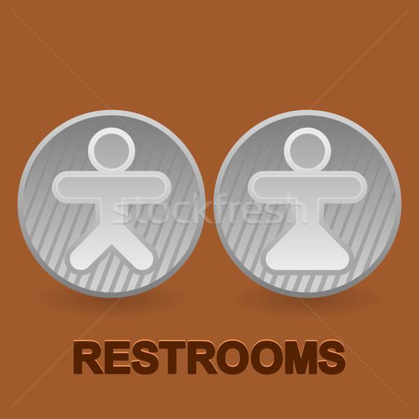 Stock fotó: Szimbólumok · barna · szimbólum · férfi · női · toalett