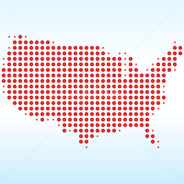 USA Dotted Map  Stock photo © nikdoorg