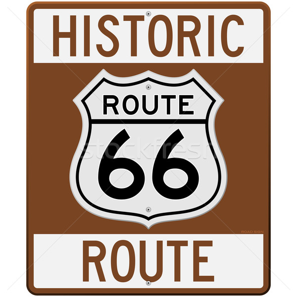 Historic Route 66 Sign Stock photo © nikdoorg