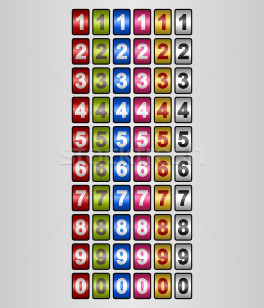 Számok különböző színek kirakat néhány fehér Stock fotó © nikdoorg