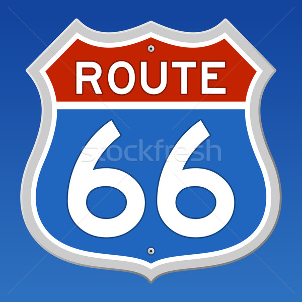 Route 66 Road Sign Stock photo © nikdoorg