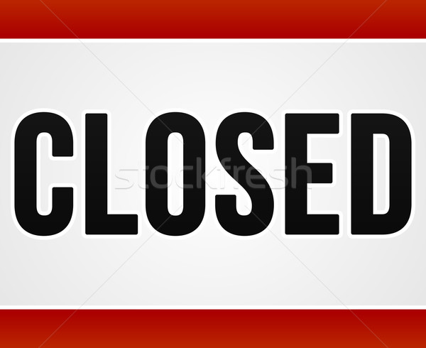 Red Closed Sign  Stock photo © nikdoorg