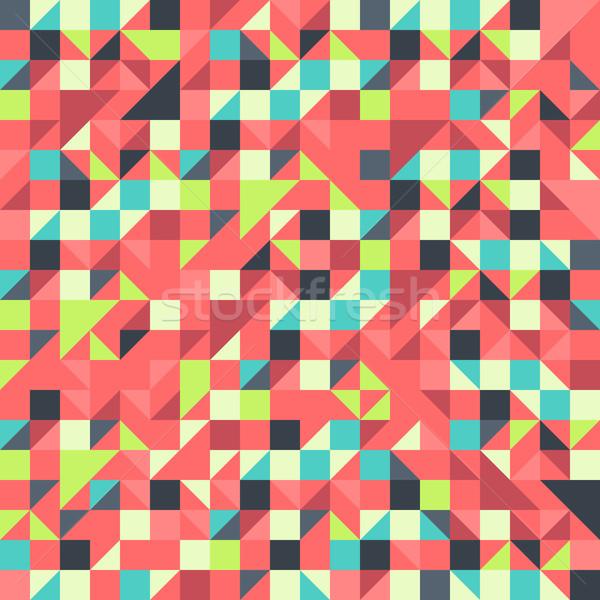 Orange blau Muster geometrischen Hintergrund Stock foto © nikdoorg