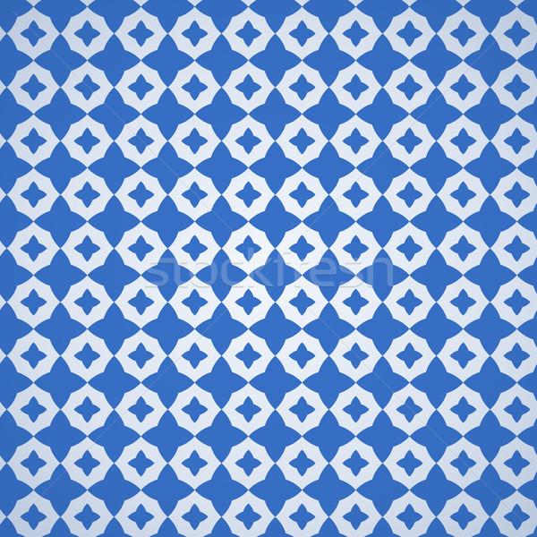 Bleu décoration classique modèle blanche étoiles Photo stock © nikdoorg