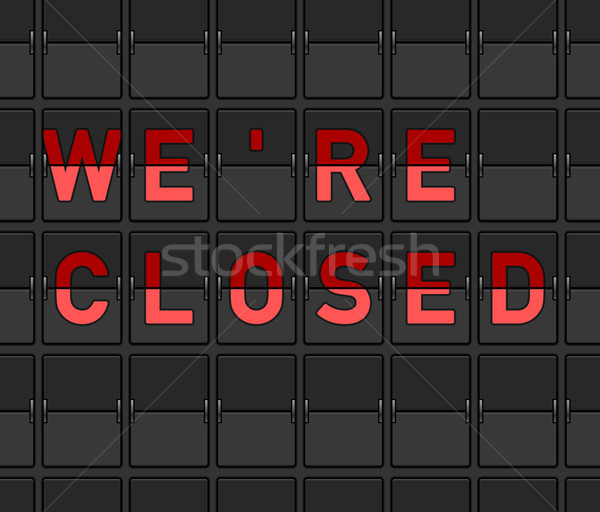 We Are Closed Flip Board Stock photo © nikdoorg