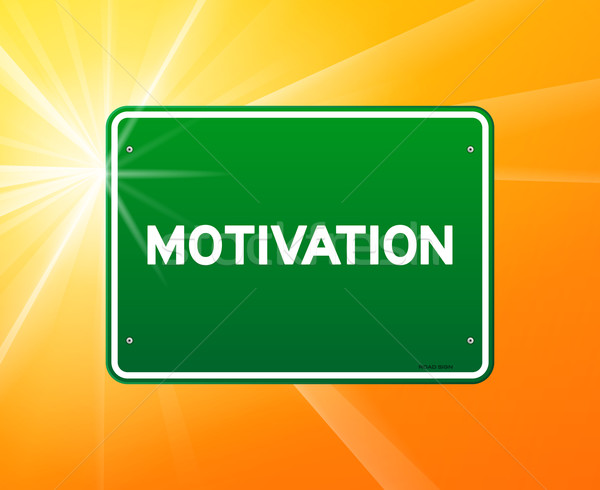 Motivation Green Sign Stock photo © nikdoorg