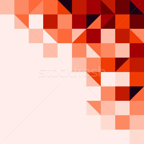Vermelho azulejos fundo estrutura geométrico formas Foto stock © nikdoorg