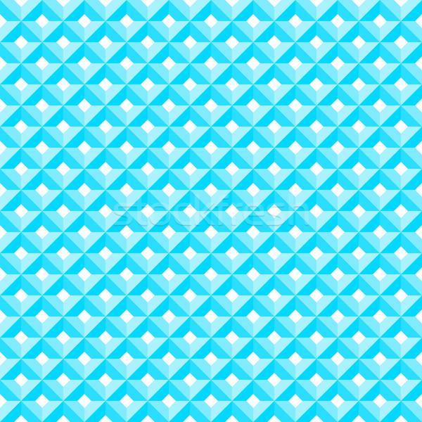 Stock fotó: Kék · gyémánt · minta · végtelenített · grafikus · dekoráció