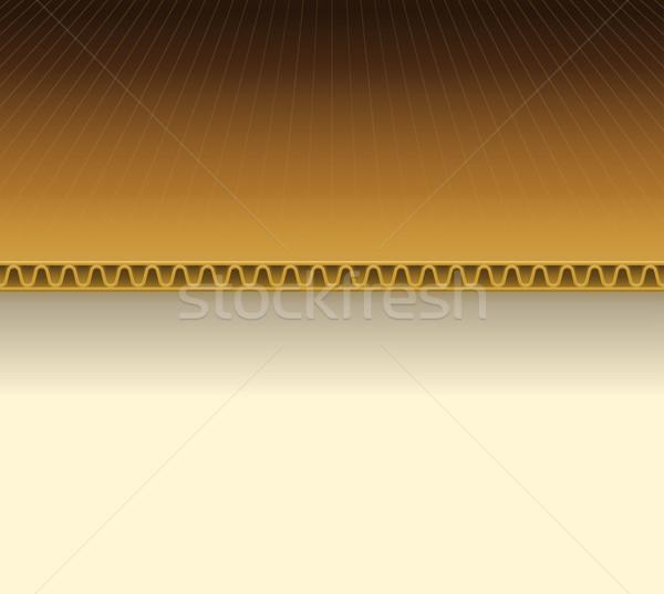 Brown Cardboard Illustration Stock photo © nikdoorg