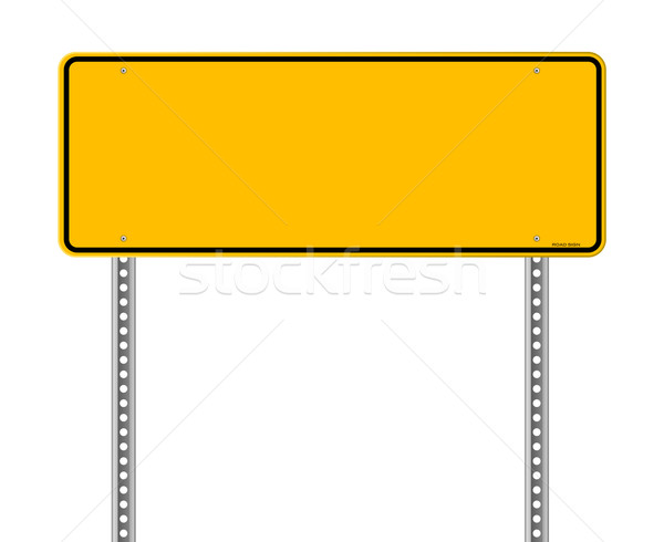Blank Warning Sign Stock photo © nikdoorg