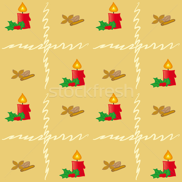 Marrom padrão sem costura dourado natal Foto stock © nikdoorg