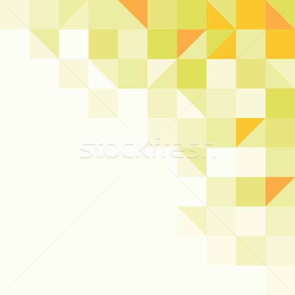 Foto stock: Brilhante · fundo · amarelo · estrutura · geométrico · formas · um