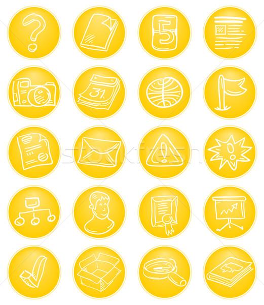 żółty cms ikona zawartość zarządzania Zdjęcia stock © nikdoorg