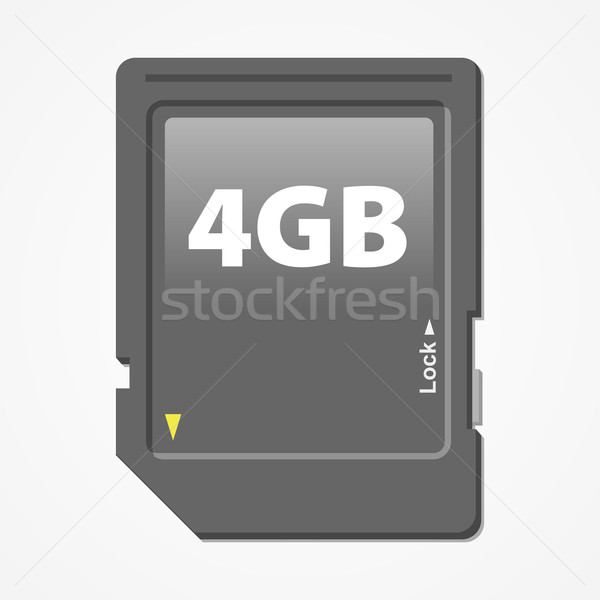 Memory Card Vector Stock photo © nikdoorg