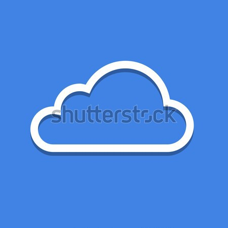 Web cloud icoon Blauw symbool schaduw Stockfoto © nikdoorg
