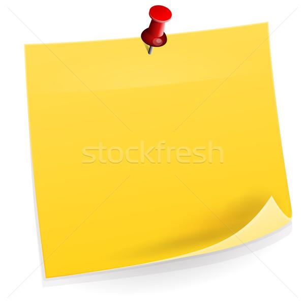 öntapadó jegyzet citromsárga papír memo izolált fehér Stock fotó © nikdoorg
