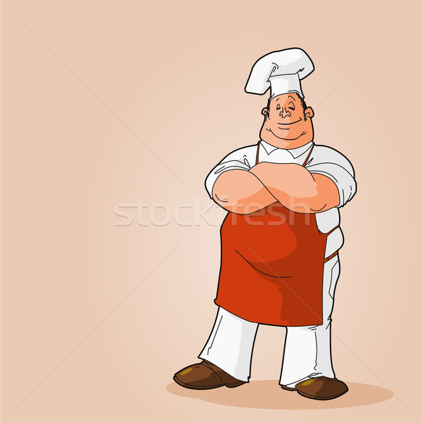 Portrait of a Chef Clip Art Stock photo © nikdoorg
