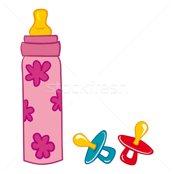 Baby Bottle and Pacifier  Stock photo © nikdoorg