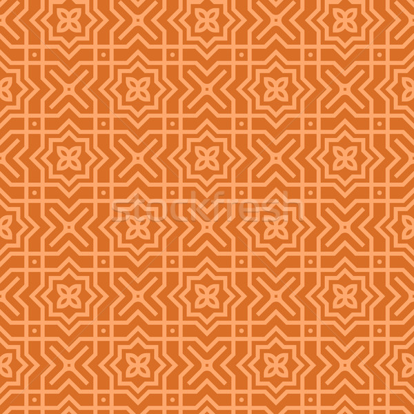 Marrom árabe padrão sem costura decoração geométrico Foto stock © nikdoorg