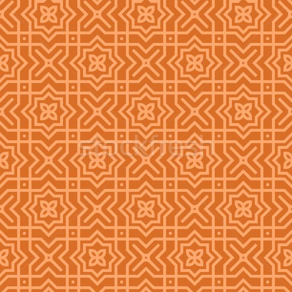 Kahverengi Arapça model geometrik Stok fotoğraf © nikdoorg