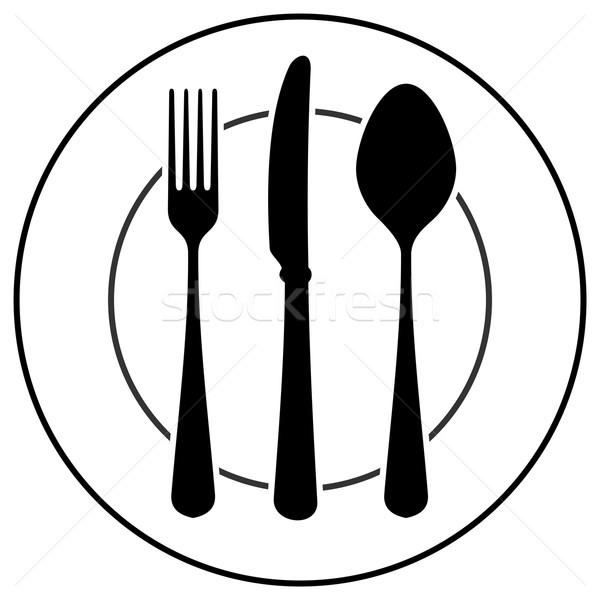 Black Cutlery Symbol  Stock photo © nikdoorg
