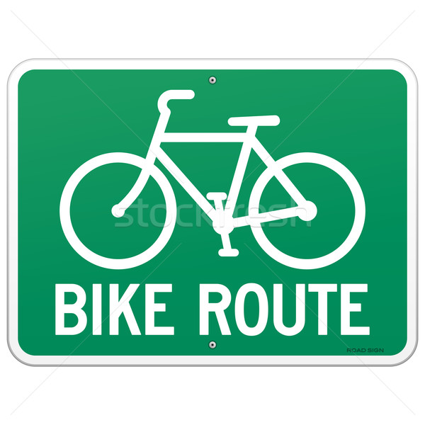 Bicycle Route Sign  Stock photo © nikdoorg