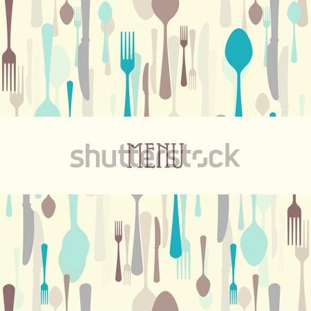 Prêmio restaurante menu jantar cartão faca Foto stock © nikdoorg