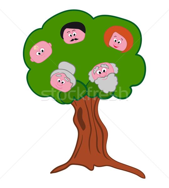 Family Tree Symbol  Stock photo © nikdoorg
