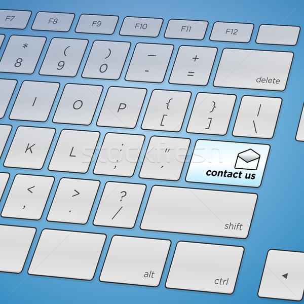 Contact Us Keyboard Stock photo © nikdoorg