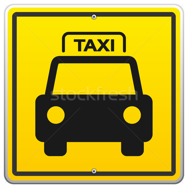 Taxi Sign in New York Stock photo © nikdoorg