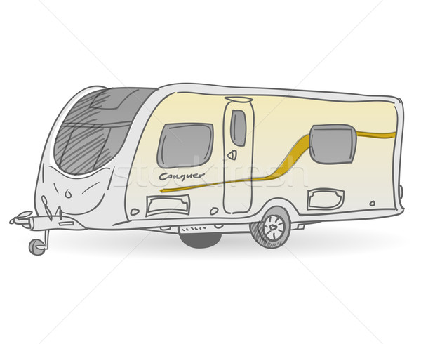 Towing Caravan Stock photo © nikdoorg