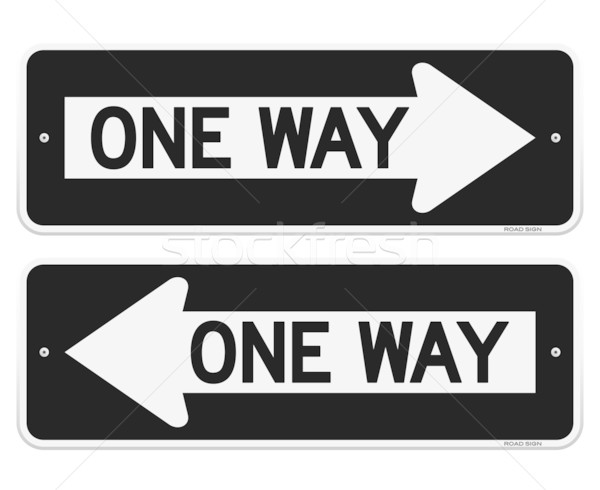 One Way Sign Stock photo © nikdoorg