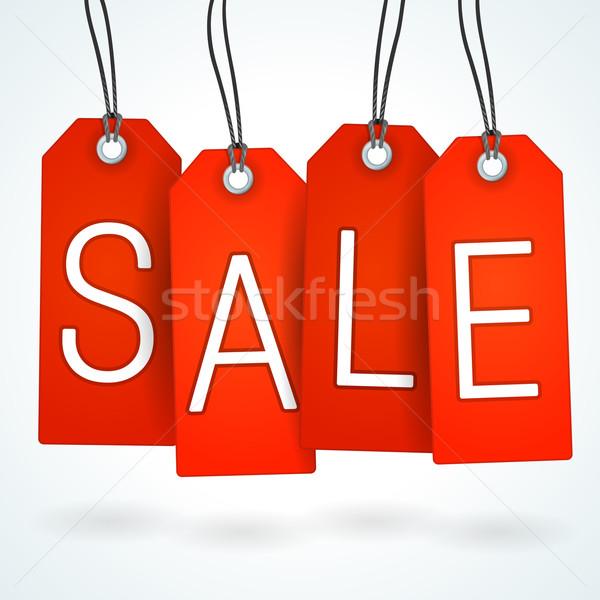 Red Sale Label Set  Stock photo © nikdoorg