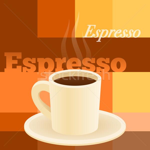 Copo café expresso café da manhã caneca de café marrom Foto stock © nikdoorg