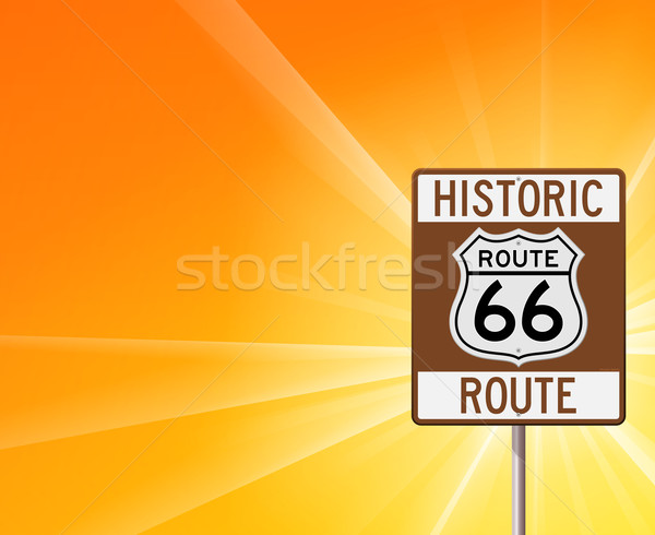 Historic Route 66 on Yellow Stock photo © nikdoorg