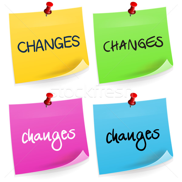Changes Sticky Note  Stock photo © nikdoorg