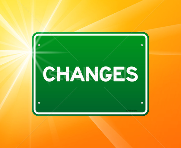 Changes Green Sign Stock photo © nikdoorg
