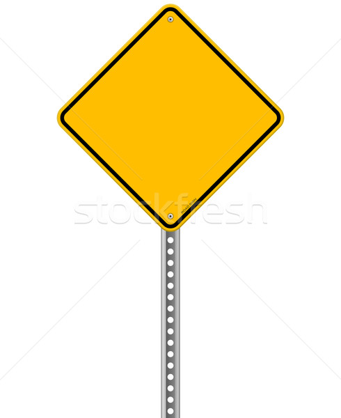 Empty Yellow Sign Stock photo © nikdoorg