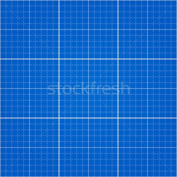 Naadloos blauwdruk engineering tekening Blauw papier Stockfoto © nikdoorg