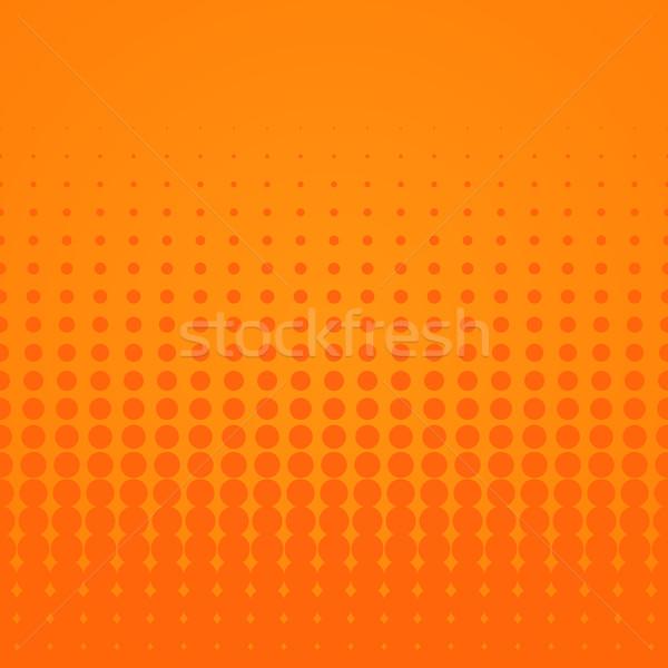 Halftone terv narancs mértani pontozott minta Stock fotó © nikdoorg