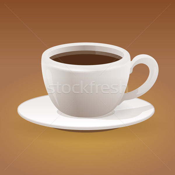 чашку кофе коричневый кофеин пить белый Сток-фото © nikdoorg