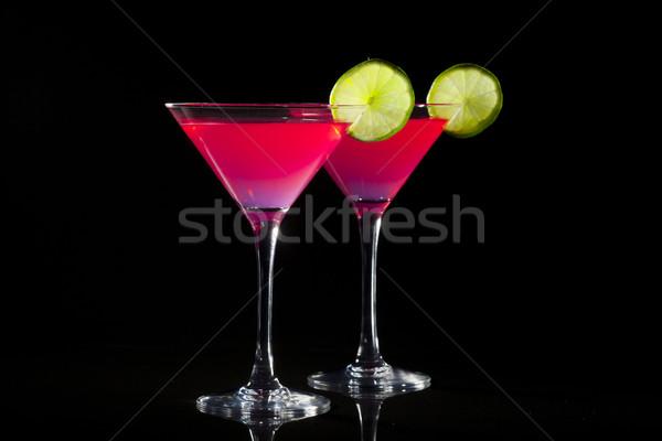 Kozmopolit iki gözlük gıda dizayn meyve Stok fotoğraf © NikiLitov