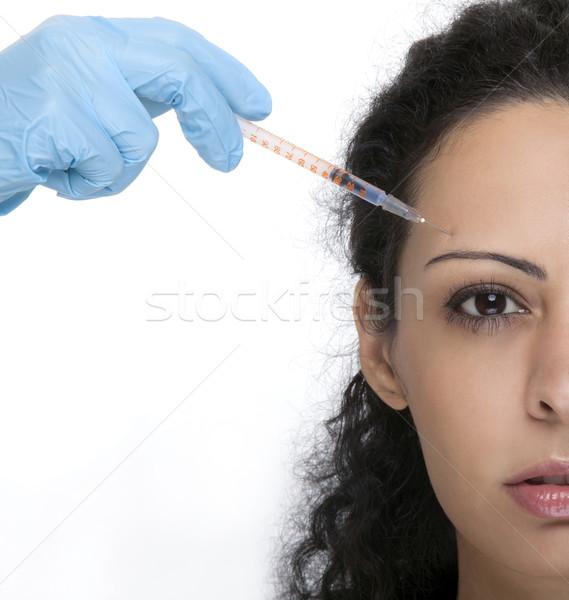 Kadın şırınga tedavi botox kollajen kadın Stok fotoğraf © NikiLitov