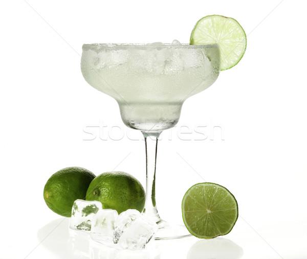 Kokteyl cam beyaz gıda arka plan limon Stok fotoğraf © NikiLitov