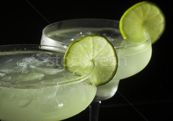 Kokteyl iki gözlük siyah gıda cam Stok fotoğraf © NikiLitov