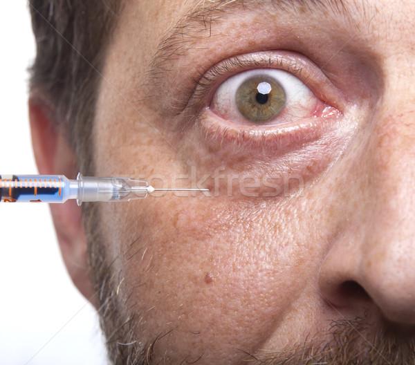 Adam şırınga tedavi botox kollajen güzellik Stok fotoğraf © NikiLitov