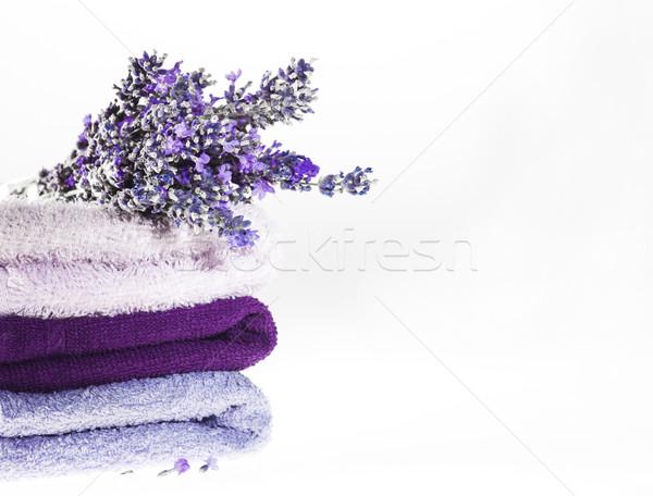 Spa lavanta beyaz bo Stok fotoğraf © NikiLitov