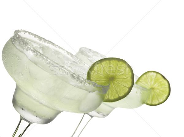 Kokteyl iki gözlük beyaz gıda cam Stok fotoğraf © NikiLitov